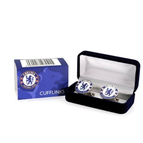 CHELSEA FC Official Players Cufflinks Blue Club Crest