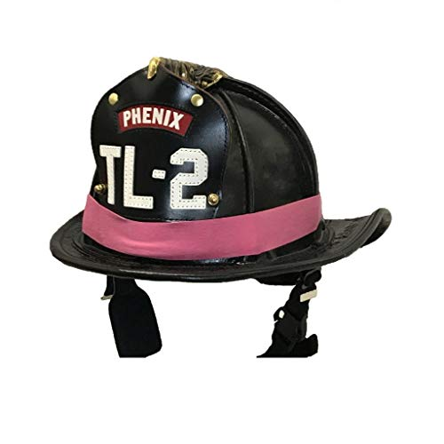 Pink Fire Helmets (LINE2design PINK Firefighter Rubber Helmet Bands For Modern & Traditional Style Fire Helmets Loose)
