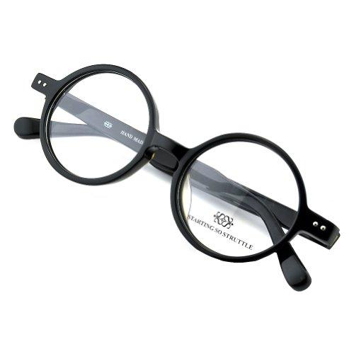 PenSee Round Black Retro Glasses Optical Prescription Eyewear Glasses Frames