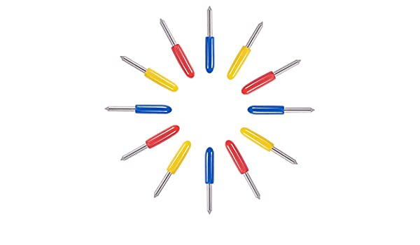 NBEADS 15 PCS Carbide 45 Deg Cuchillos de Letras para Computadora, Cuchillas de Repuesto de Vinilo Plotter de Corte Roland, Color Mezclado: Amazon.es: Hogar