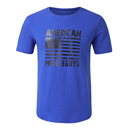 Skirt Elliptical - Ximandi Men's Fashion Round Collar Elliptical Hem Casual Fitness T-Shirt Short Sleeve Shirt Blue