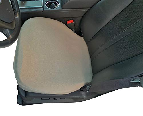 Auto Console Covers Seat Cover - Bottom Only - 2 Covers, Tan, Fleece - Universal Bucket Seat Protectors for SUVs, Trucks, Vans, and Cars