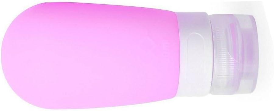 YooGer Botellas de Silicona para Viaje, frascos a Prueba de Fugas para Gel de Ducha, champú, acondicionador, loción, artículos de tocador (80ML, púrpura)
