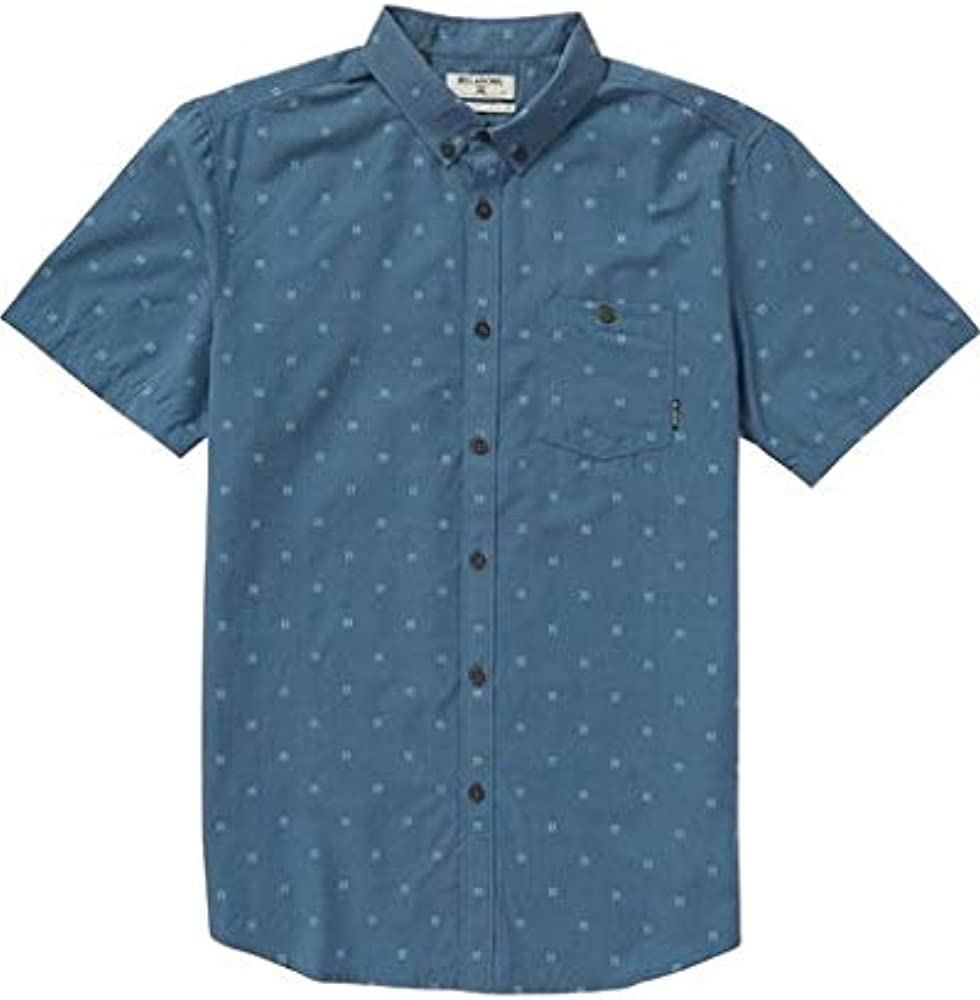 Billabong All Day Jacquard Camisa de manga corta para hombre - Azul - Large: Amazon.es: Ropa y accesorios