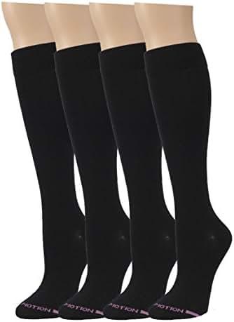 4 Pairs Dr. Motion Graduated Compression Knee-hi Women's Socks