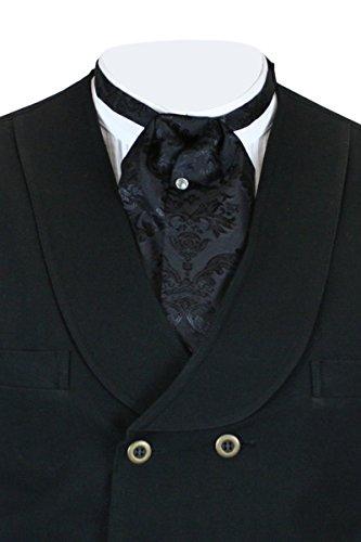 - Historical Emporium Men's Satin Floral Puff Tie Black