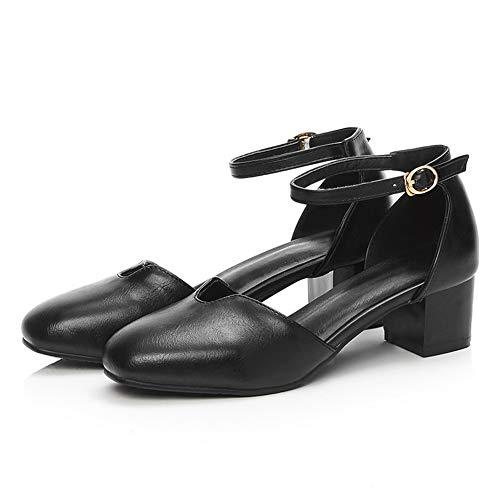 SDC05574 Femme AdeeSu 36 Noir Sandales Compensées Noir EU 5 apnwAq