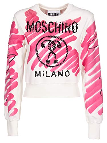 MOSCHINO Women's 170204291209 White Cotton Sweater, used for sale  Delivered anywhere in Canada