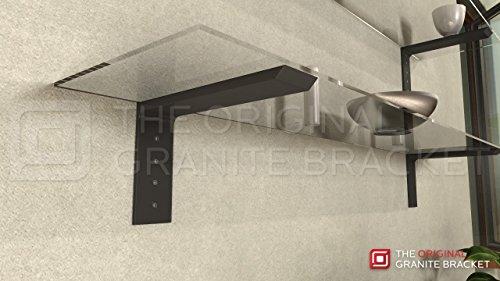 Shelf L Bracket 10Hx6V Black by The Original Granite Bracket (Image #1)