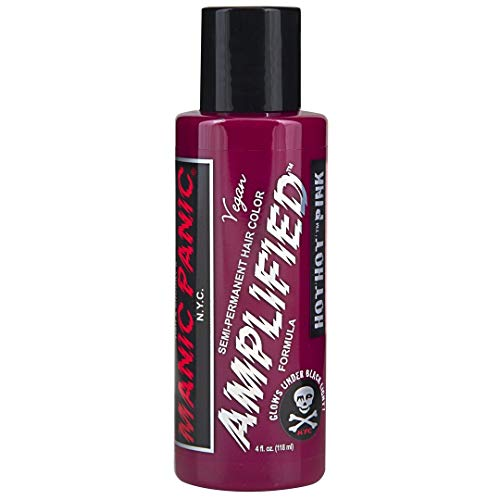 Manic Panic Hot Pink Amplified Vegan Hair Dye Color Squeeze Bottle, 4 oz