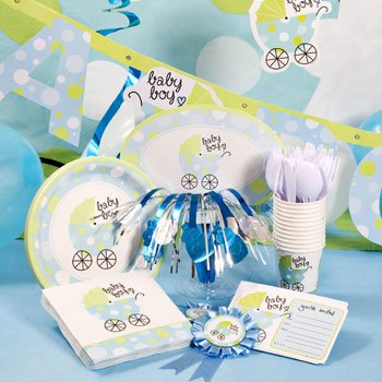 Blue U0026quot;Baby Boy Baby Buggy Baby Carriage Shower Decoration Kit