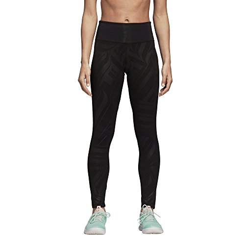 (adidas Women's Training Designed-2-Move High Rise Long Tights, Black/All Over Print, Large )