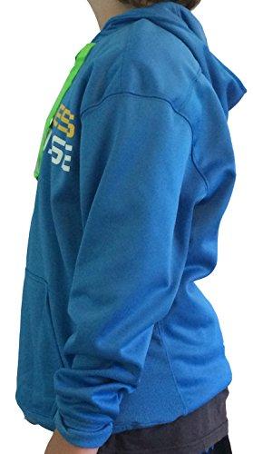 Blue Lace hooded sweatshirt Lax Moisture Wicking Adult (Small)