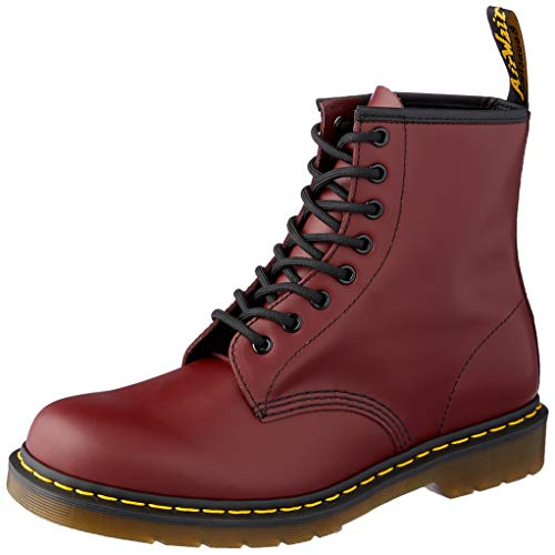 - Dr. Martens 1460 Originals 8 Eye Lace Up Boot, Cherry Red Rouge Leather, 6UK / 7 US Mens / 8 US Womens, 39 EU