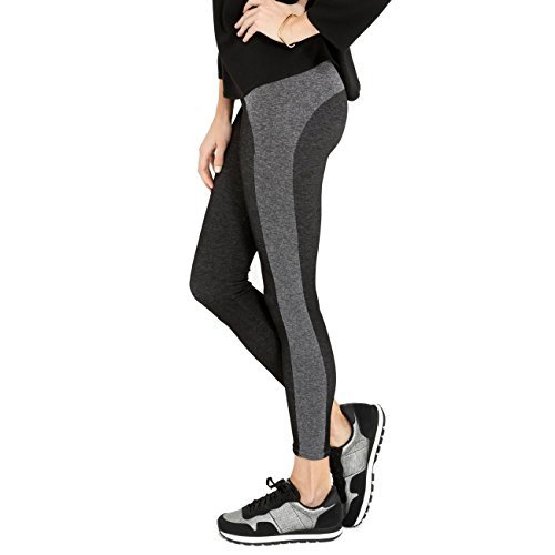 - SPANX Curved Lines Seamless Shaping Leggings, L, Black / Heathered