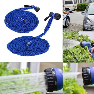 2.5M High-Pressure Flexible Triple Retractable Rope Water Hose Reel with High Pressure Spray Nozzle (Upgraded)