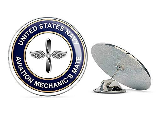US Navy Aviation Mechanics Mate Round AD Military Veteran USA Pride Served Gift Metal 0.75