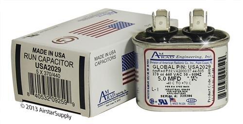 5 MFD 370/440 OVAL CAP.