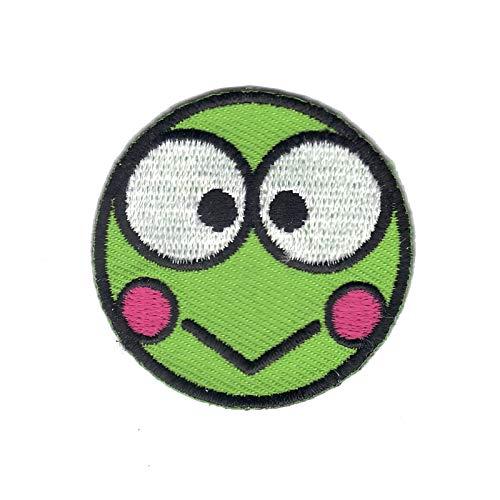 Hello Kitty Round Kero Kero Keroppi Kids Cartoon Iron On Embroidered Applique Patch (Kitty Hello Keroppi)
