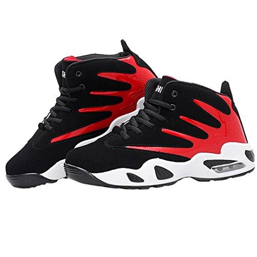 Enmayer Mujeres Pu Material Cross-tied Round Toe Sport Zapatos Mujer Zapatillas De Deporte Con Cordones Rojo
