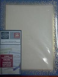 Gartner Foil Certificates 15 Count Blue and Gold