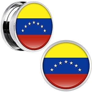 Cuerpo Caramelo Acero Inoxidable Venezuela Bandera Ajuste ...