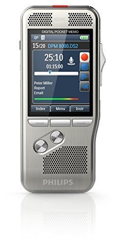 Philips DPM-8000 Professional Digital Pocket Memo with Cradle and Speechexec Pro Software