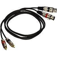 Seismic Audio SAXMRM-2x5 Dual XLR Female to Dual RCA Male 5-Feet Patch Cable
