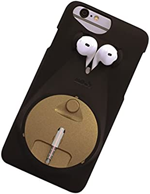 reputable site e686f 26b2b Jeddis Cover Case with Headphone Holder for Apple iPhone 6/6S - Black/Gold