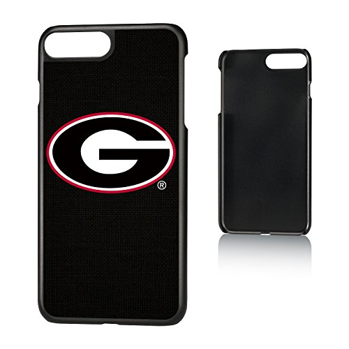 Keyscaper NCAA Georgia Bulldogs UGA Solid Slim Case for iPhone 8 Plus/7 Plus/6 Plus, Black by Keyscaper