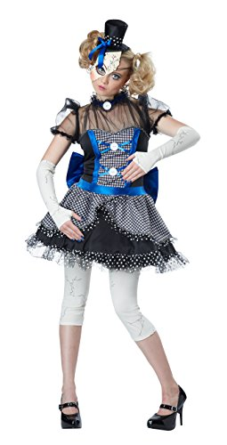 California Costumes Women's Twisted Baby Doll Costume, Blue/Black,