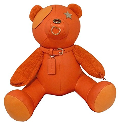 COACH Leather Teddy Bear STAR Collectible (Orange)