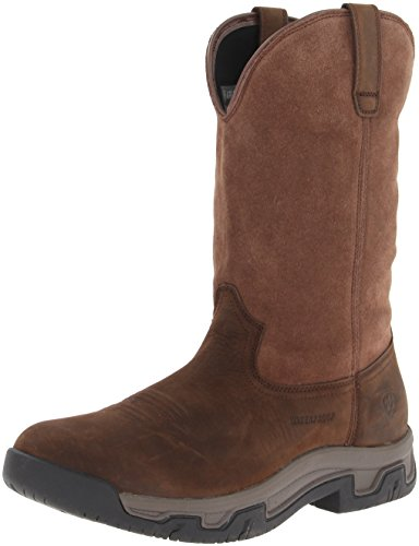 - Ariat Men's Terrain Pull-On H2O Western Boot, Distressed Brown, 7 E US