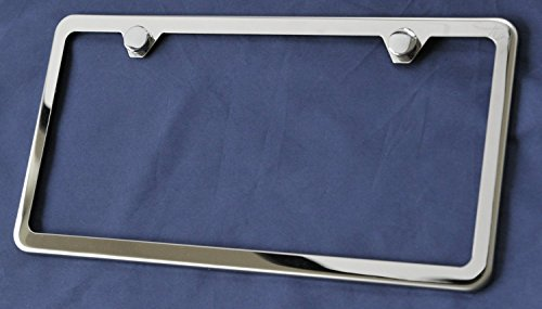 Lfparts Slim Style Polished Stainless Steel License Plate