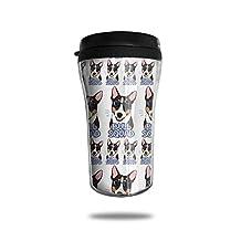 Terrier Bull Dog Cool Squad Dogs Coffee Skinny Tumbler Travel Mugs