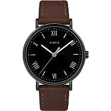 Timex Men's TW2R80300 Southview 41mm Brown/Black Leather Strap Watch