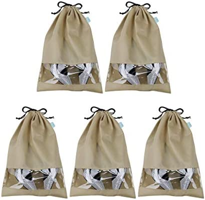 Pack of 5, Dust proof Large Size Shoe Organizer Bags, Shoe