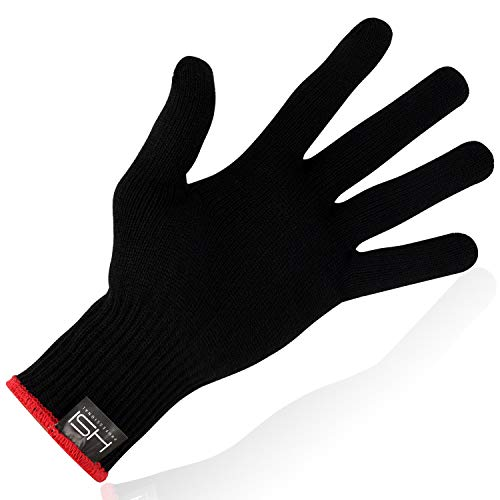 HSI Professional Heat-Resistant Glove – Lightweight Heavy Duty Hand Protection – Perfect for Curl Iron, Flat Iron, Hair Dryers One Size Fits All