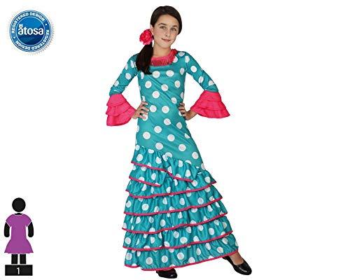 Atosa 26539 - Flamenco, azul, chica, tamaño 116, la luz azul ...