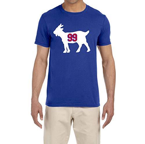 Tobin Clothing Blue New York Gretzky Goat T-Shirt Youth Medium