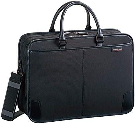 平野鞄 ビジネスバッグ ショルダーバッグ メンズ ブリーフケース キャリーバー通し B4 A4 ビジネス 通勤 横幅40cm 2way 黒 ブラック +オリジナル高級ムートングローブ
