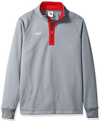 (Speedo Unisex 3/4 Zip Pull Over Warm Up Jacket, XX-Large, Red)