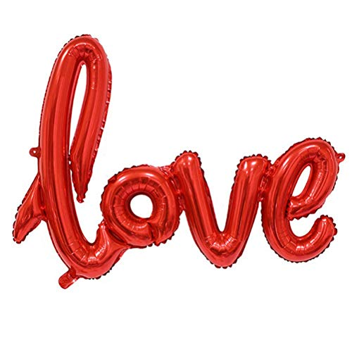 Gift Rose - Creative 1pcs Anniversary Wedding Valentines Decoration Balloon Ligatures Love Letter Foil Party 4 - Gender Bacherlotte Heroes Happy Dinosaur Your Themed Tiaras Jurassic Elegant