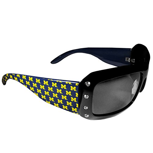 ines Women's Rhinestone Designer Sunglasses (Michigan Wolverines Sunglasses)