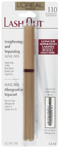 L'Oreal Paris Lash Out Mascara, Blackest Black, 0.23-Fluid Ounce (Mascara Lash Extending Loreal Black)