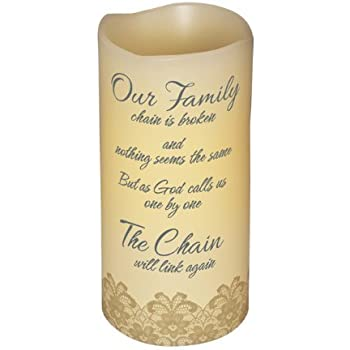 Abiding Light Scented Flameless Candle Bereavement Memory