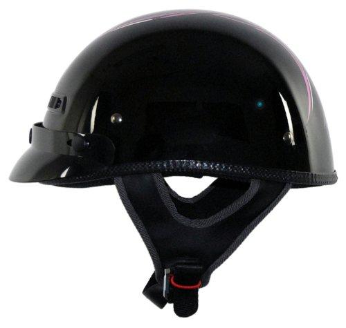 (Vega XTS Pinstripe Half Helmet (Pink,)