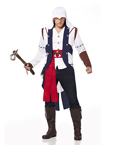 Spirit Halloween Adult Connor Costume - Assassin's Creed, XL 48-50, White, XL 48-50, White (Assassin Halloween Costumes)