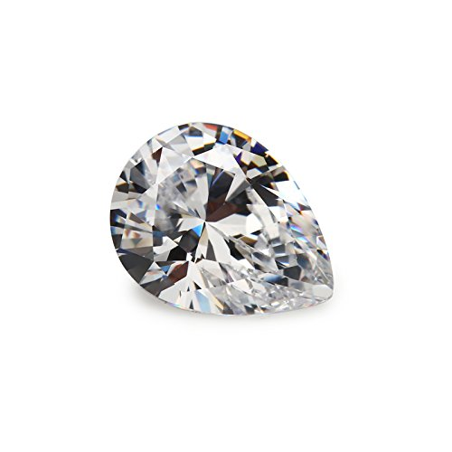 (50PCS 3x4mm AAAAA Pear White Loose cubic zirconia CZ Stone Synthetic Gemstone (3x4mm 50pcs))