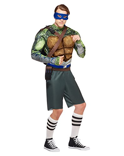 Adult Muscular Leonardo Costume - Teenage Mutant Ninja Turtles: Out of the (Ninja Turtle Costume Spirit Halloween)